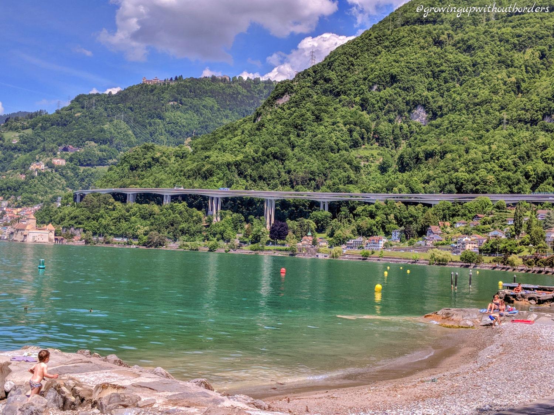 Villeneuve Switzerland, lake Geneva